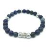 Bracelet Sodalite, Lapis lazuli et métal argenté