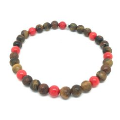Bracelet jaspe et corail bambou