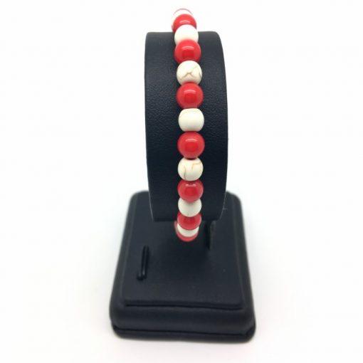 Bracelet howlite et corail bambou