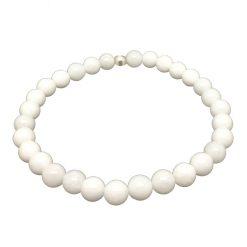 Bracelet agate blanche