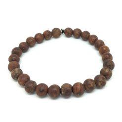 Bracelet jaspe brun