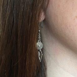 Boucles d'oreilles chaine acier inoxydable et Charms en métal