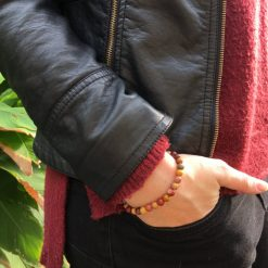 Bracelet Jaspe mokaïte Karaburan