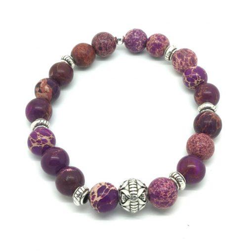 Bracelet Jaspe violet Amiral