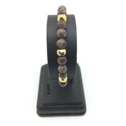 Bracelet en jaspe brun
