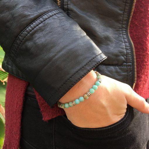 Bracelet en perle Jaspe Imperial
