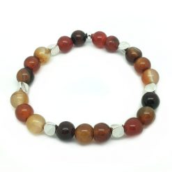 Bracelet en perle agate ambrée