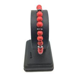 Bracelet en perle howlite rouge