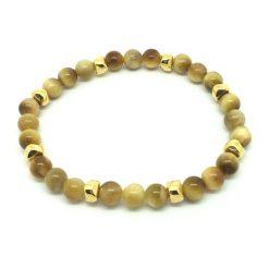 Bracelet en perles oeil de chat