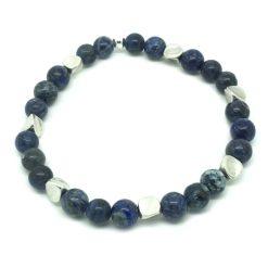 Bracelet perle Sodalite bleue